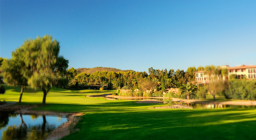 discover the Son Vida golf course during your holidays at the Hotel Saratoga in Palma